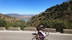 road cycling down las palomas