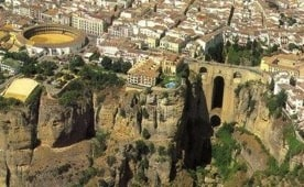 Ronda bridge aerial view