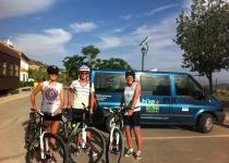 Family cycling spain