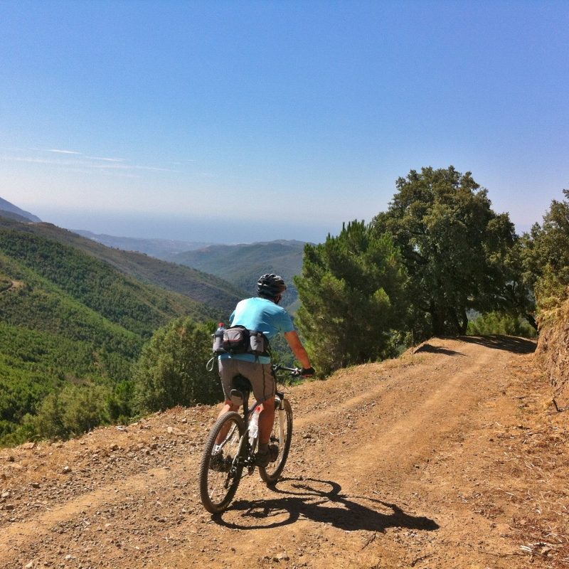 Mountain biking in the Sierra de las Nieves