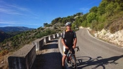 road cyclist on road in spain