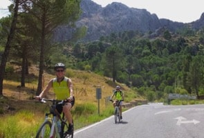 road riders riding up to las palomas