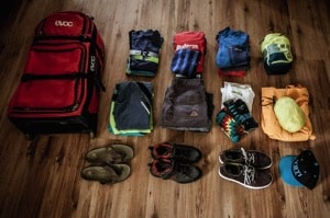 hiking holiday kit