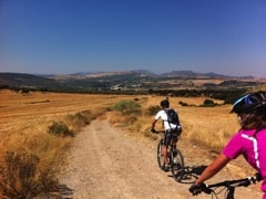 Riding in the spanish countryside