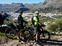 wayne and heather on mtb in grazalema natural park