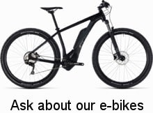 ask us about our e-bikes