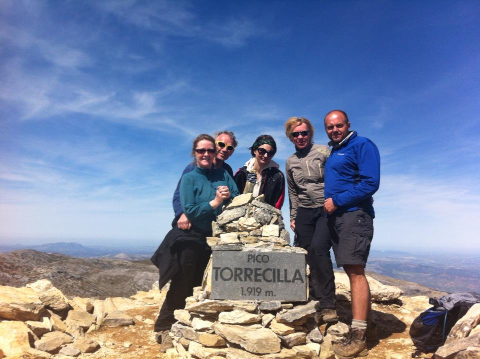 Hiking on Torrecilla in the Sierra de la Nieves above the Costa del Sol