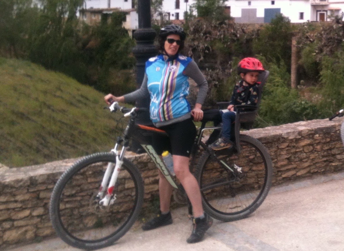 Family Cycling Day Out with child seat
