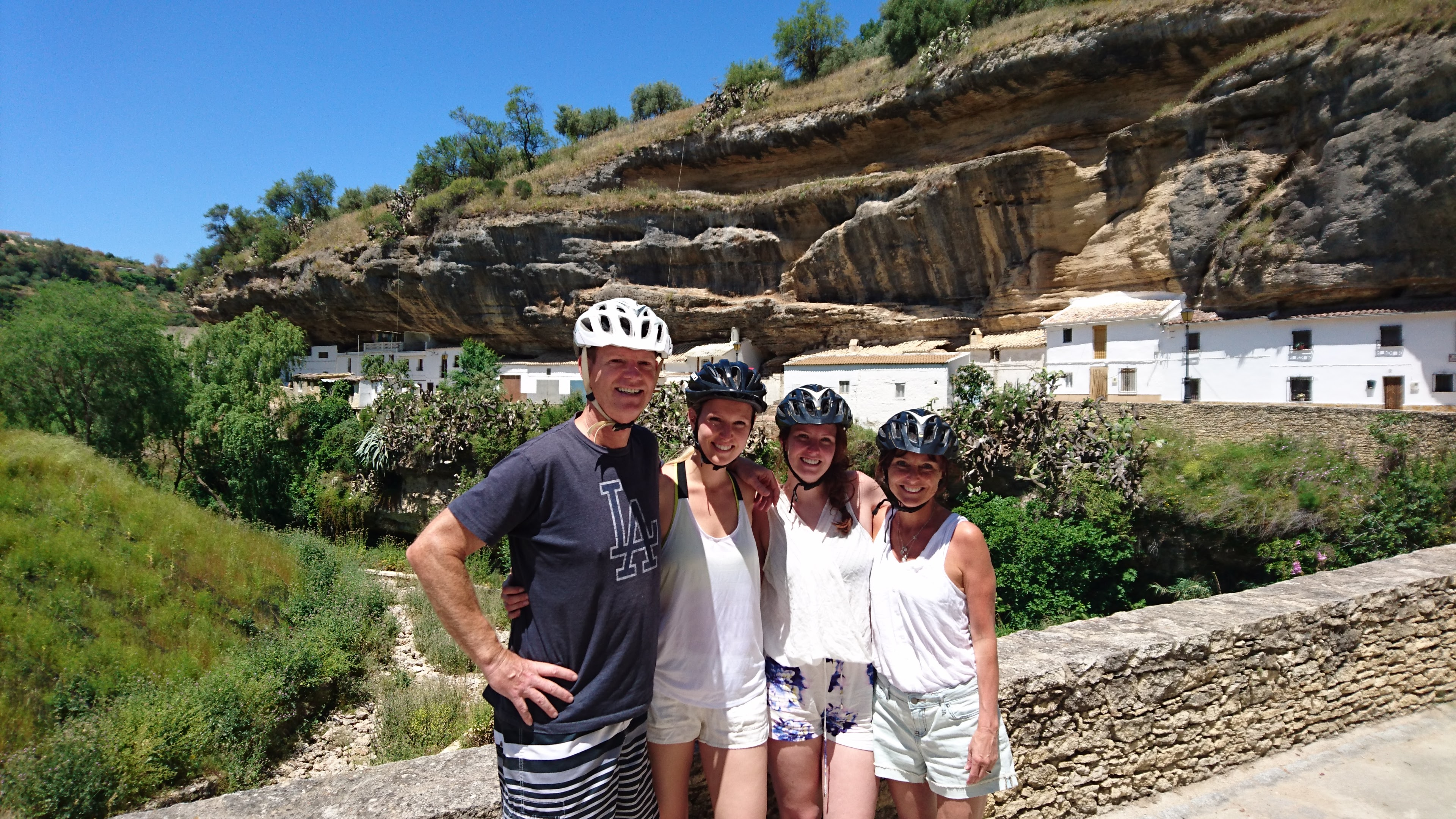 Family Bike ride to Setenil
