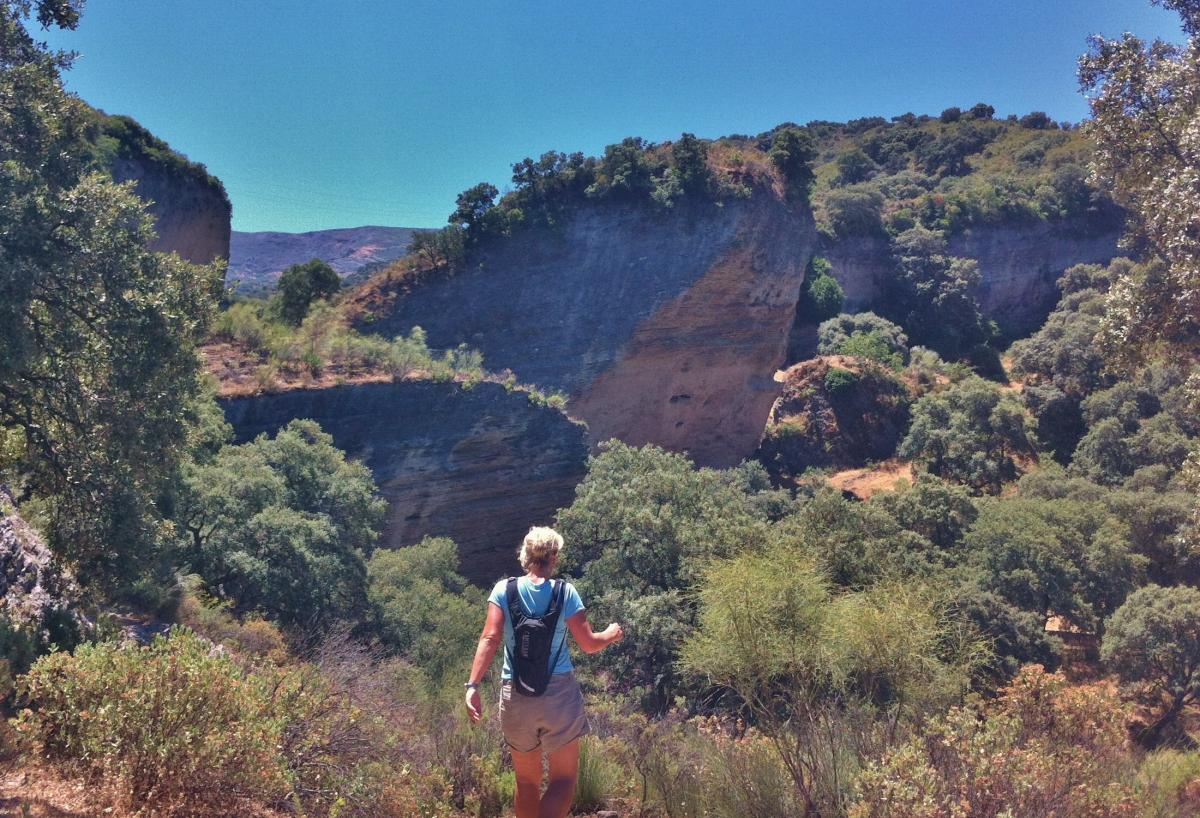 Walking in Tajo del Abanico near Ronda, Spain